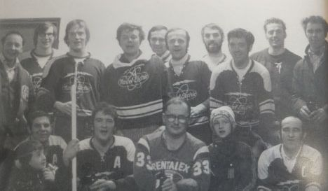 Early 1970's Broomball Team
